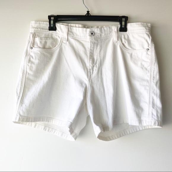 Levi's white denim long jeans casual shorts